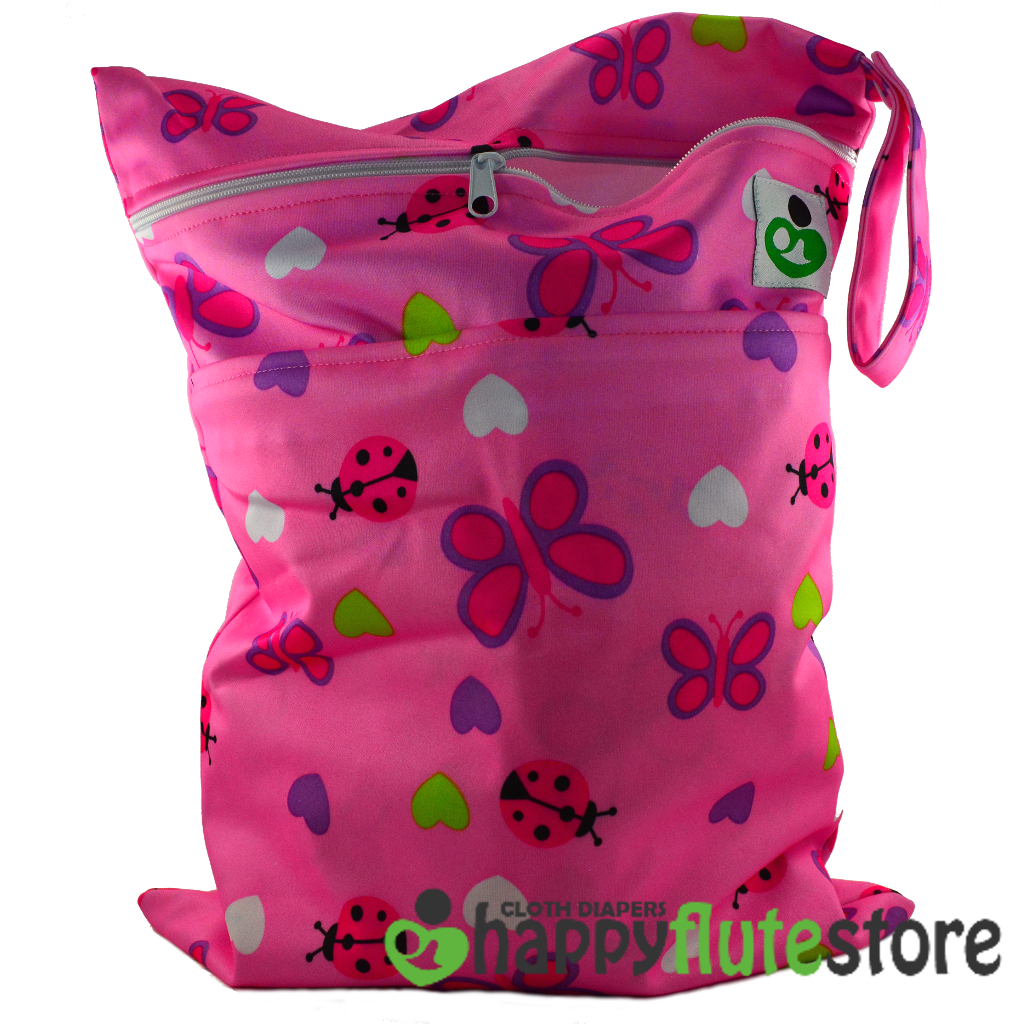 Happy Flute On The Go Wetbag- Lady Bugs