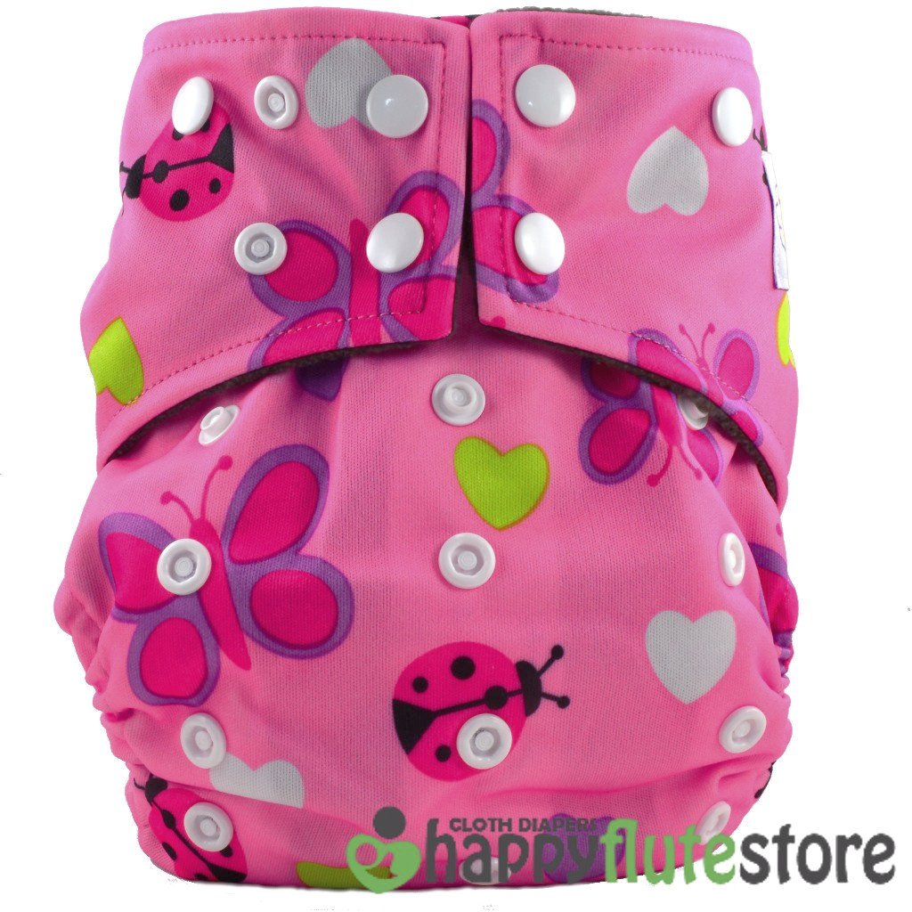 Happy Flute Pocket Cloth Diaper - Lady Bugs