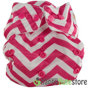 Happy Flute Heavy Wetter Cloth Diaper - Pink Chevron