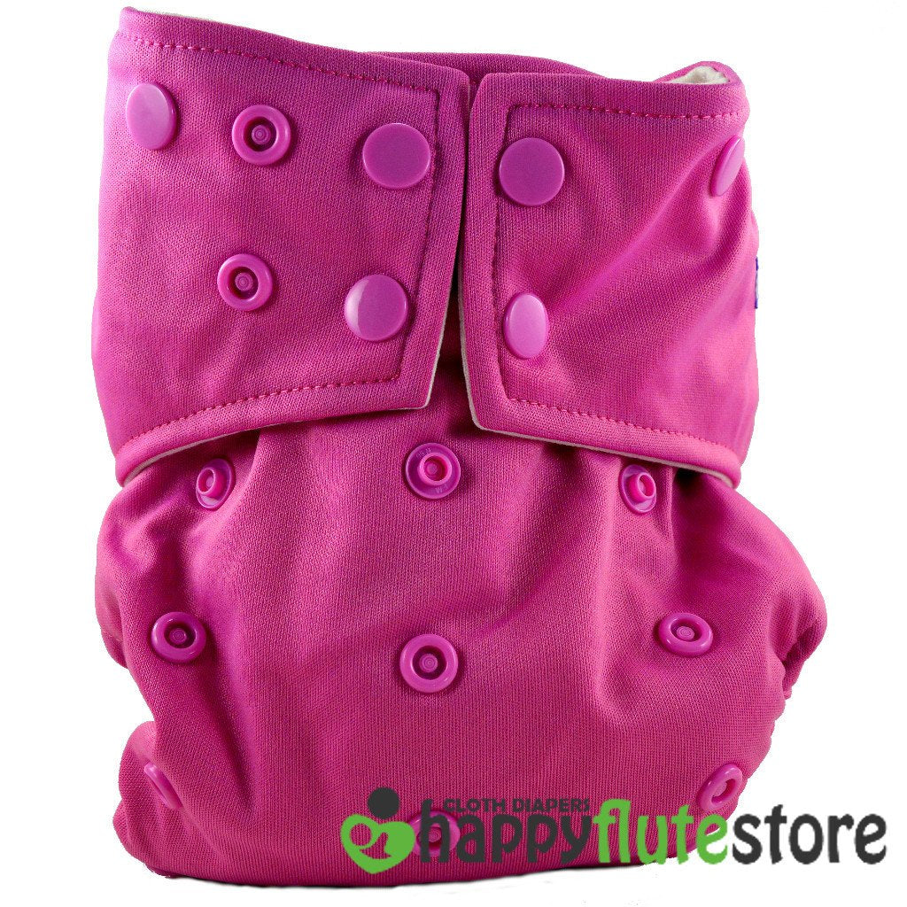 Happy Flute All in One Cotton Bamboo Cloth Diaper - Pink Sorbet