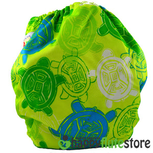 Happy Flute Pocket Cloth Diaper - Sea Turtle (back)