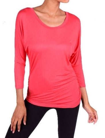 Basic Top in Coral
