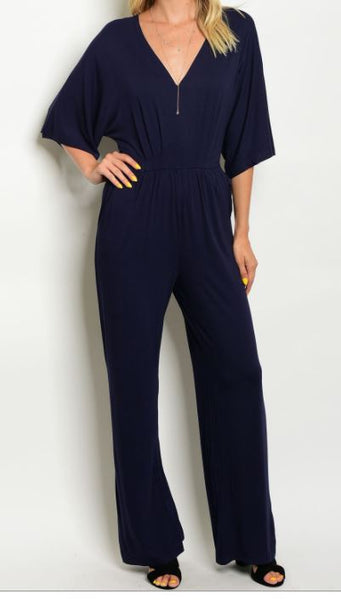Short Sleeve Jumpsuit in Navy