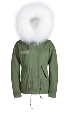 White Raccoon Fur Parka