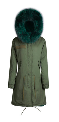 Zoe Fur Parka Green