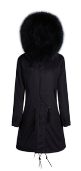 Zoe Fur Parka Black