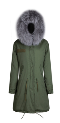 Zoe Fur Parka Grey