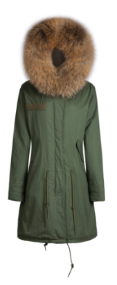 Zoe Fur Parka Brown