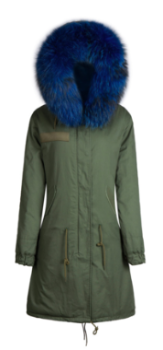 Zoe Fur Parka Blue