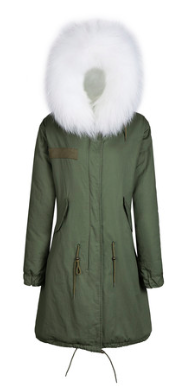 Zoe Fur Parka White