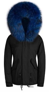 Raccoon Fur Parka Blue