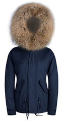 Raccoon Fur Parka Brown