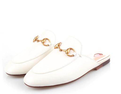 Leather Mule White