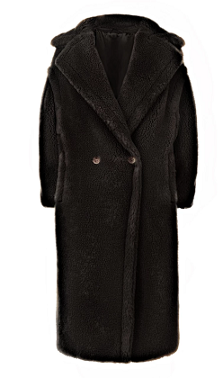 Black Alaia Teddy Coat