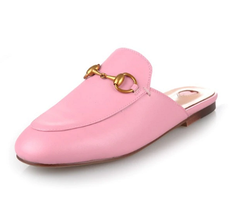 Leather Mule Pink
