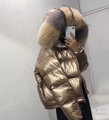 Dakota Puffer Jacket Gold