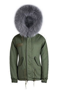 Grey Raccoon Fur Parka