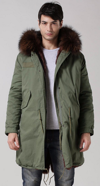 Mens Dark Brown Parka