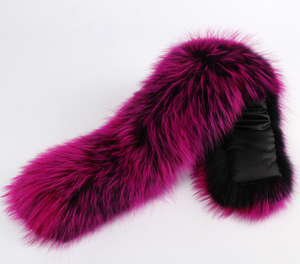 Purple Fur Collar