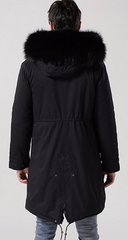 Mens Black Parka