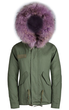 Lilac Raccoon Fur Parka