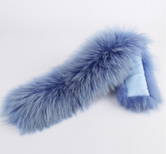 Sky Blue Fur Collar