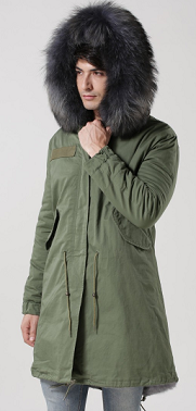 Mens Grey Parka
