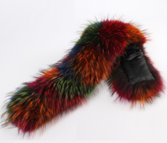 Rainbow Fur Collar