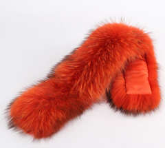 Orange Fur Collar