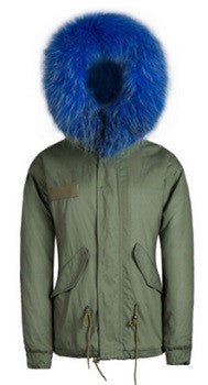 Fur Parka Blue