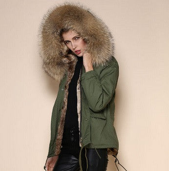 Reina Raccoon Fur Parka