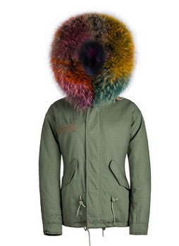 Twister Raccoon Fur Parka