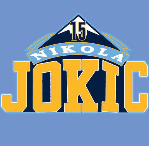 Light Blue Denver Jokic Joker Shirt