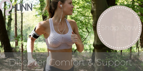 Q-Linn sports bra made for exercise and breast support