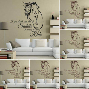 Be Ready for the Ride Horse Wall Sticker Decor Gifts