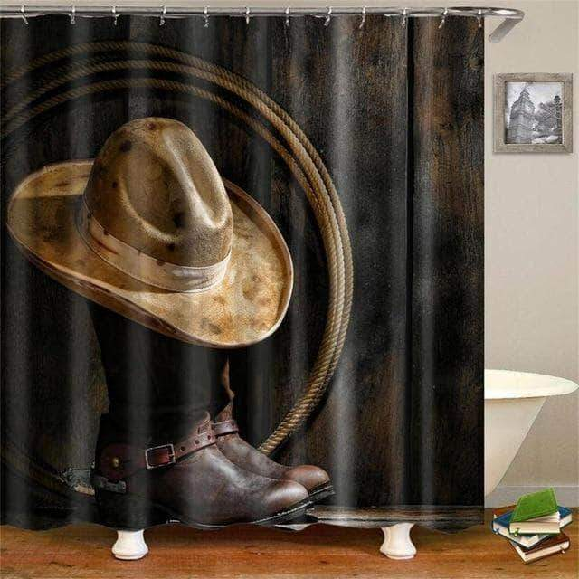 Cowboy Boots and Hat Curtain curtain