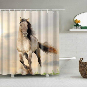 Horse in the Wind Curtain curtain