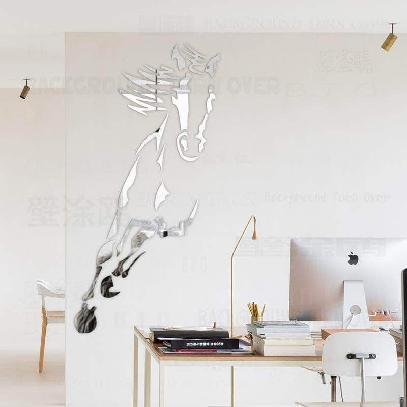 Hot Running Horse 3D Acrylic Mirror Wall Stickers Jewellery