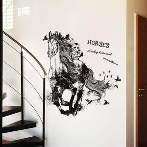 Magistic Running Horse Wall Decor Sticker Gifts