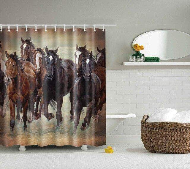 Running Wild Horses Shower Curtain curtain