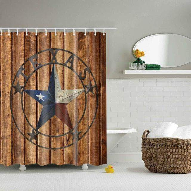 Texas Retro West Star Curtain curtain
