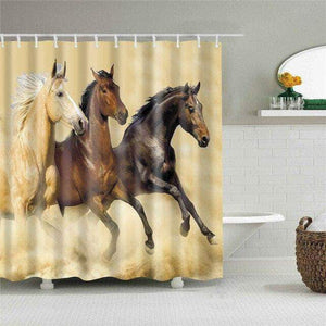 Three Wild Horses Curtain curtain