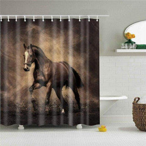 Vinrage Horse Shower Curtain curtain