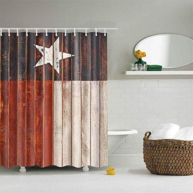 Vintage West Star Flag Curtain curtain