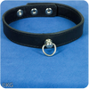 High Quality Simple Leather Collar with Ring