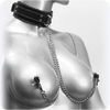Vegan Leather Collar with Adjustable Nipple Clamps