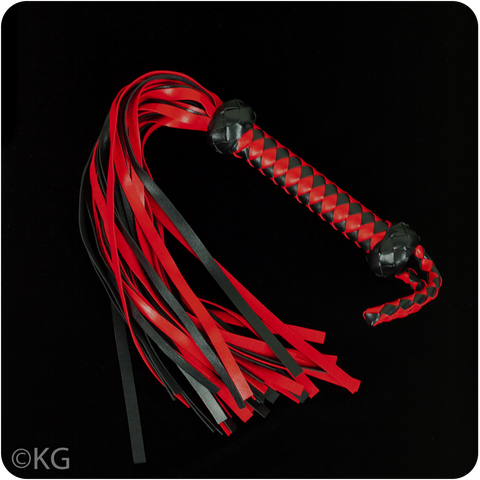 Red and Black Vegan Flogger