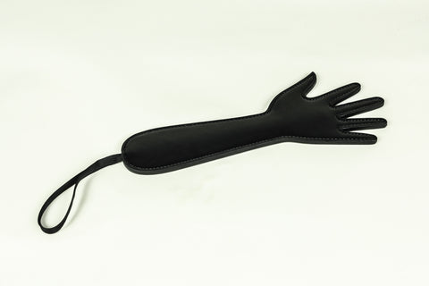Open Hand Shaped Paddle in Vegan Leather