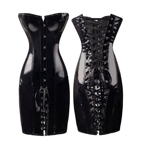 Gloss Black PVC Vixen Dress