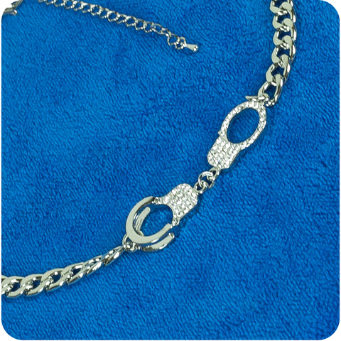 Rhinestone Handcuffs Necklace
